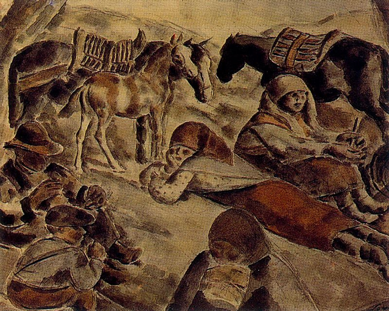 Arturo Souto. Children and horses