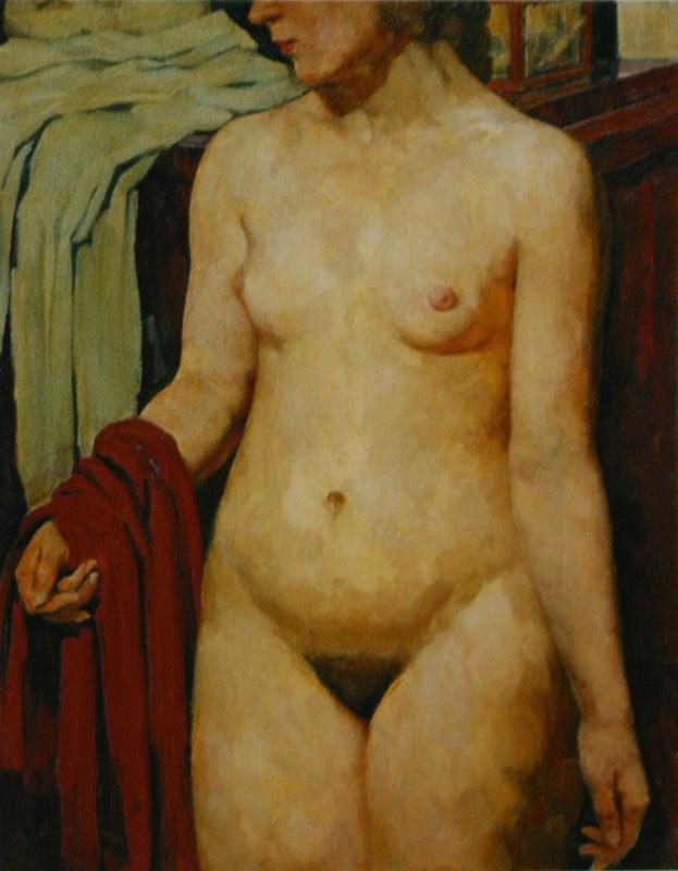 Константин Федорович Юон. Натурщица.  1913