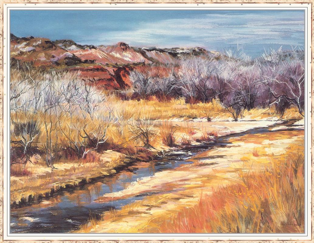 Amy Winton. Landscape with dry Bush
