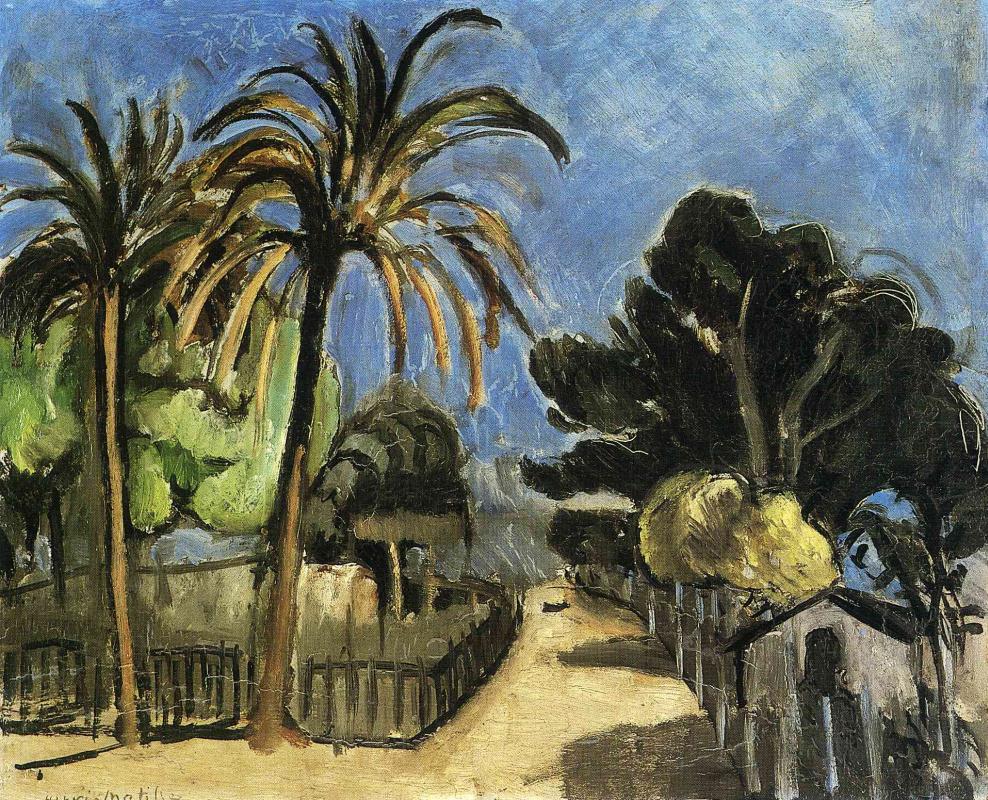Анри Матисс. Пейзаж с пальмами
