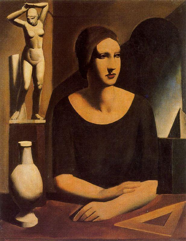 Марио Сирони. Женщина и статуэтка