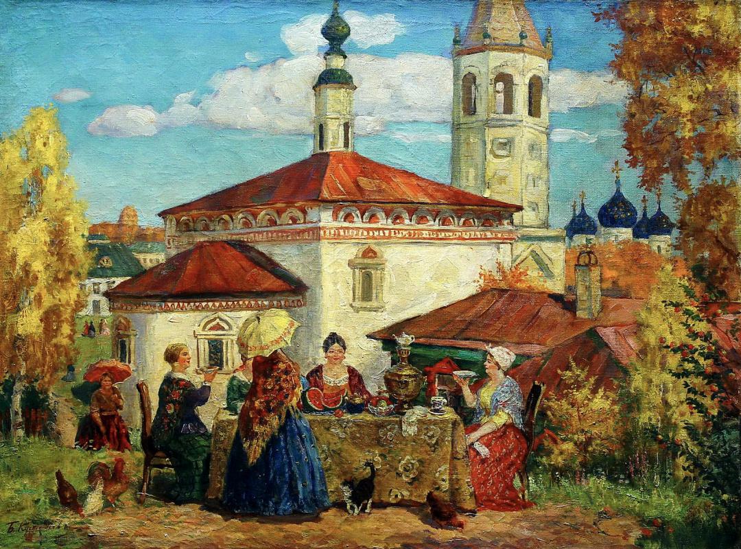 Boris Kustodiev. In the old Suzdal