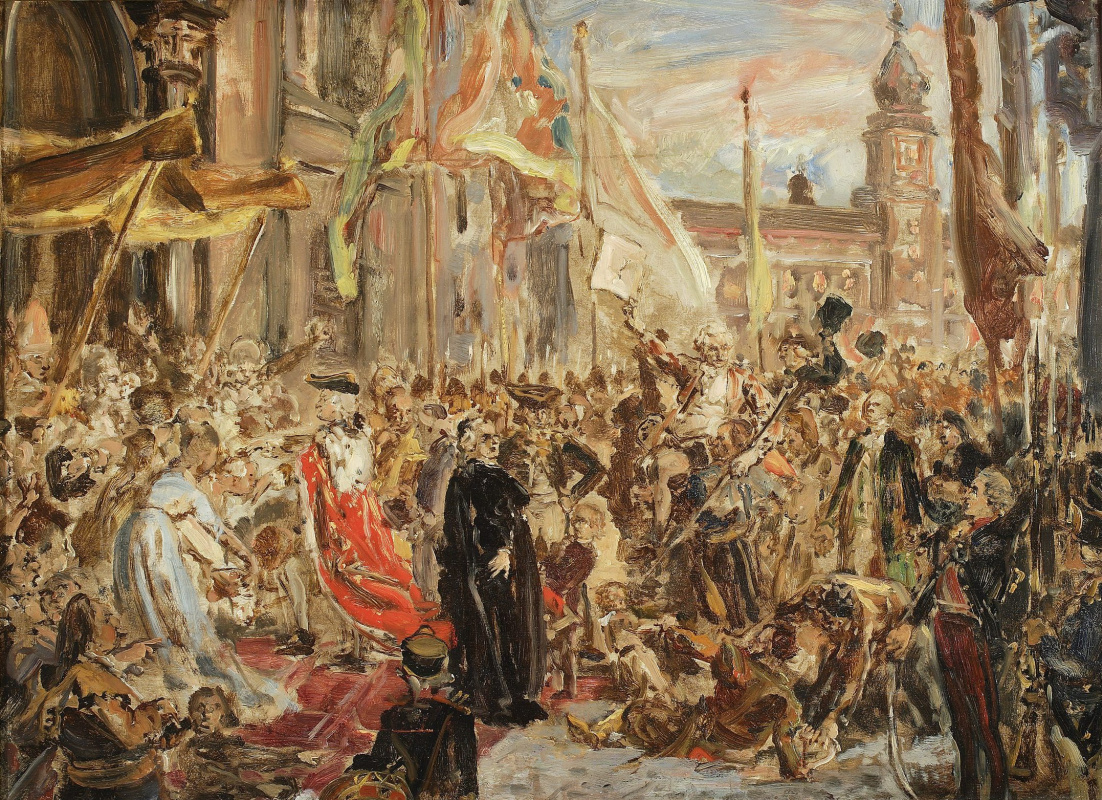Jan Matejko. The Constitution of May 3. Sketch