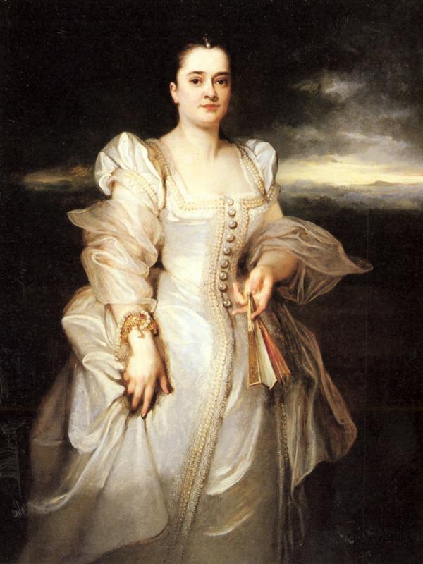 Адольф Монтичелли. Женский портрет