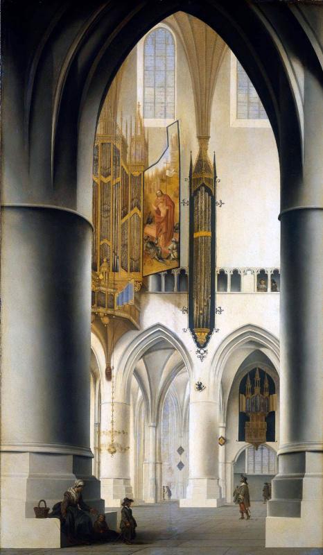 Питер Джансс Сенредам. Церковь Святого Баво в Харлеме
