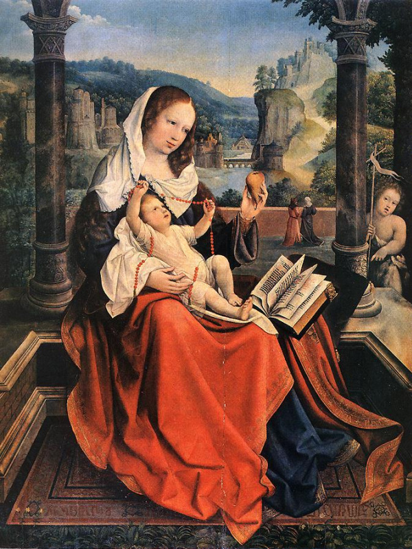 Бернард ван Орлей. Дева с младенцем
