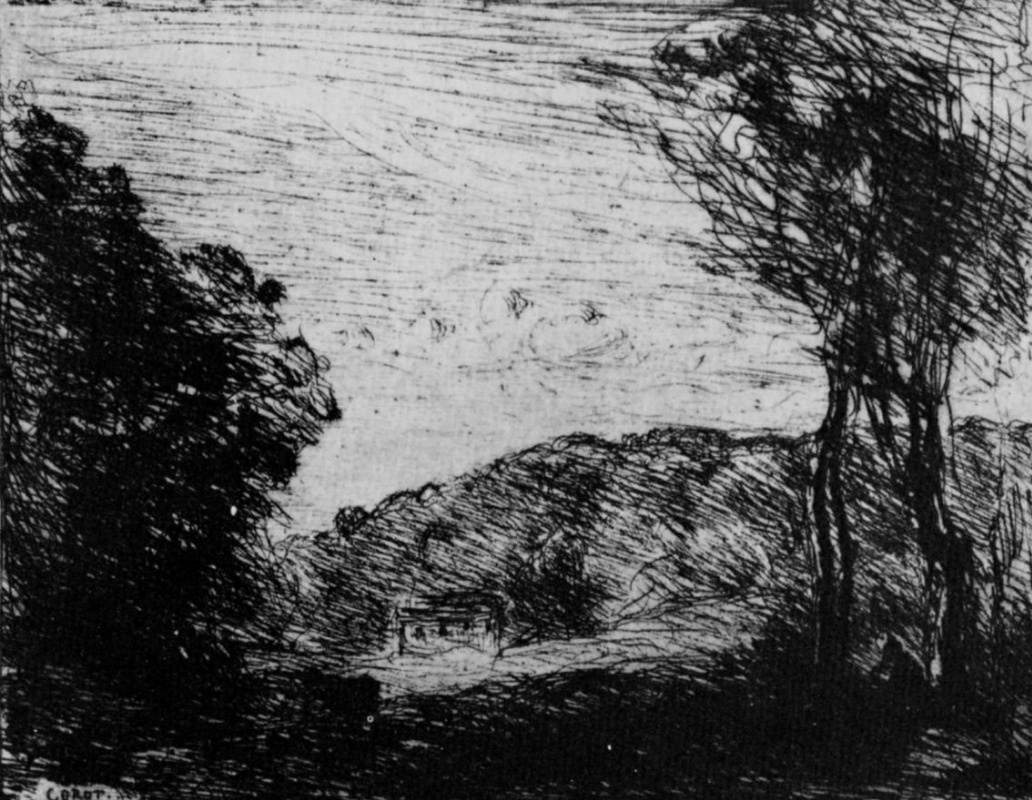 Camille Corot. Landscape with trees