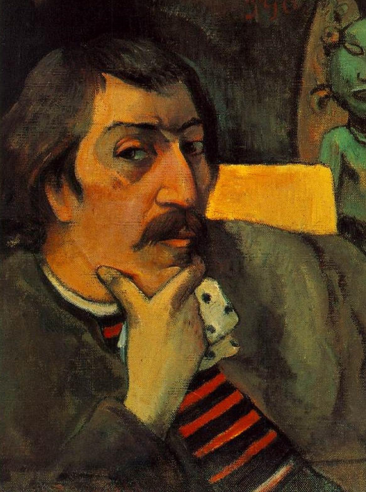 Поль Гоген. Автопортрет с идолом