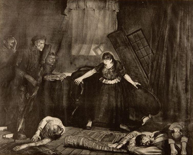 """George Wesley Bellows. The last victim. Series """"War"""""""