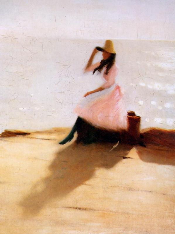 Филипп Уилсон Стэр. Молодая женщина на пляже