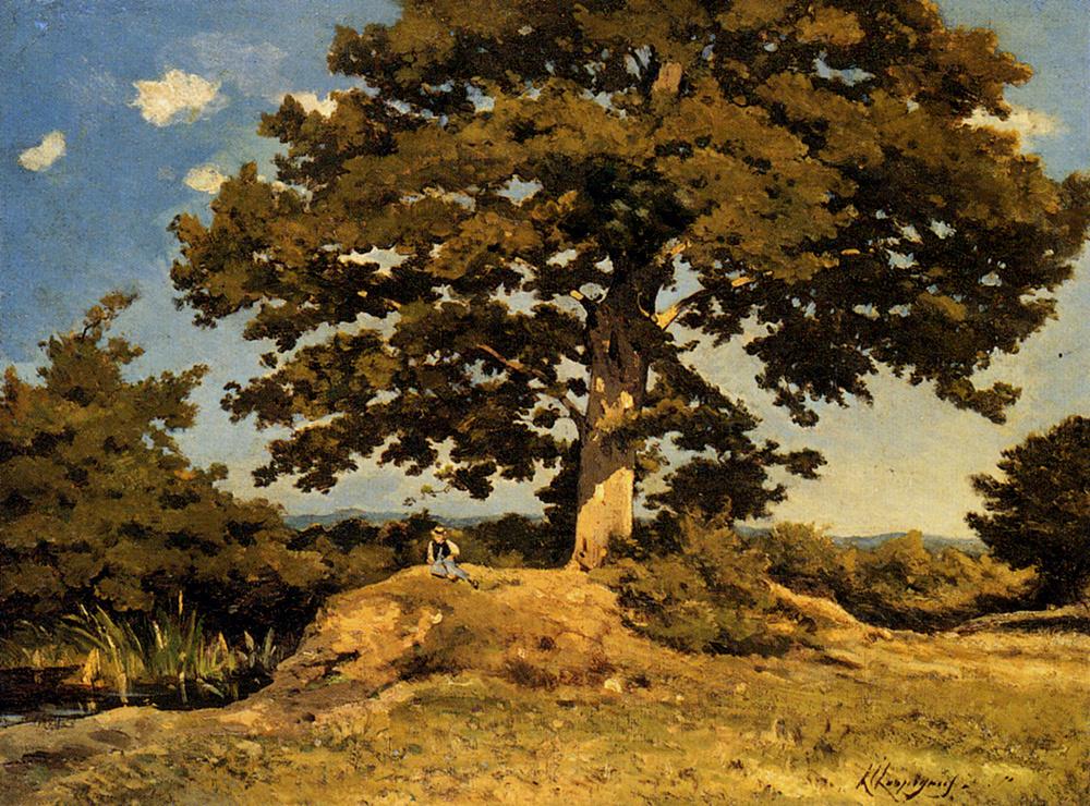 Henri-Joseph Harpignies. Big tree