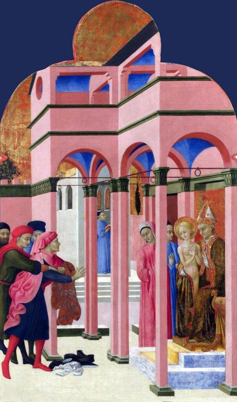 Сассетта. Святой Франциск отрекается от земного отца