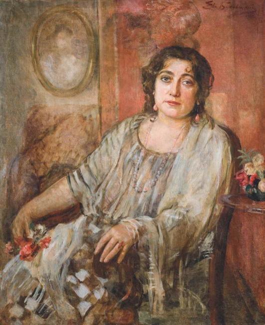 Евгений Иосифович Буковецкий. Женский портрет в интерьере