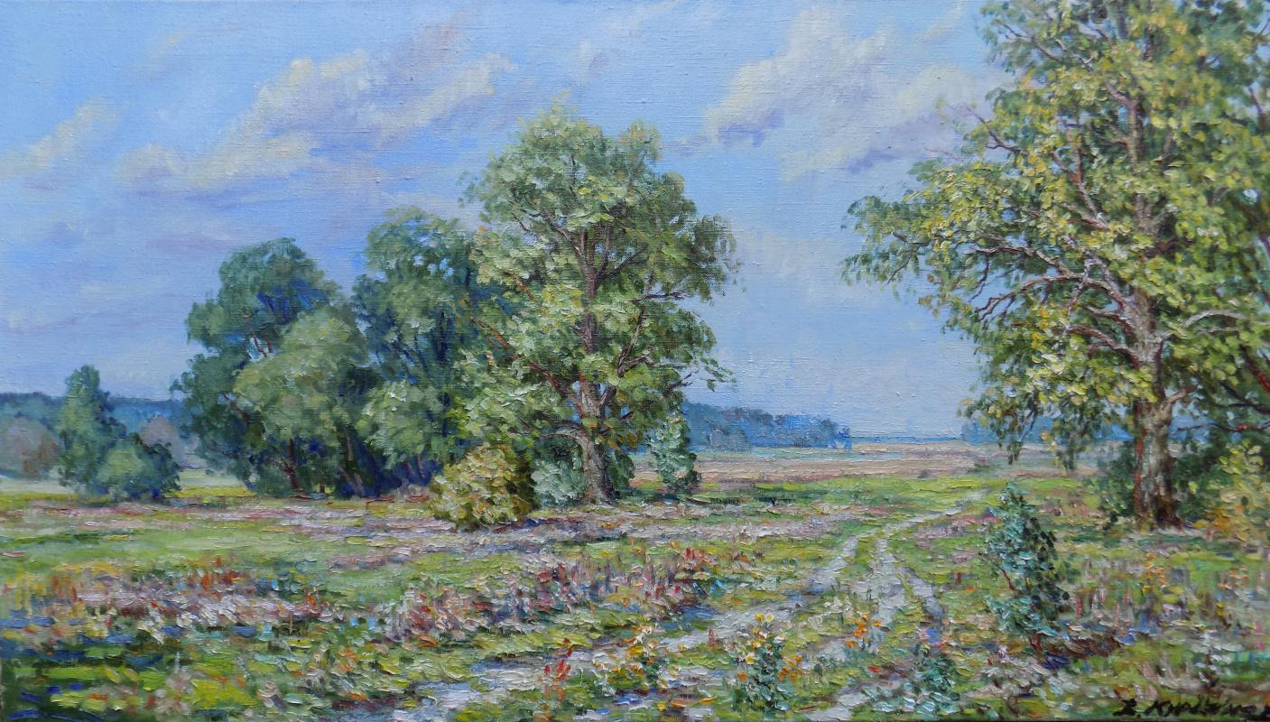 Victor Vladimirovich Kuryanov. Oaks by the road