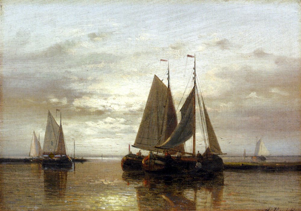 Abraham Hulk. Sailboats on the water