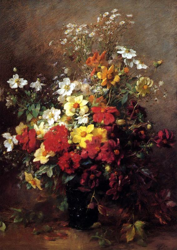 Франсуа Ривуар. Натюрморт с цветами