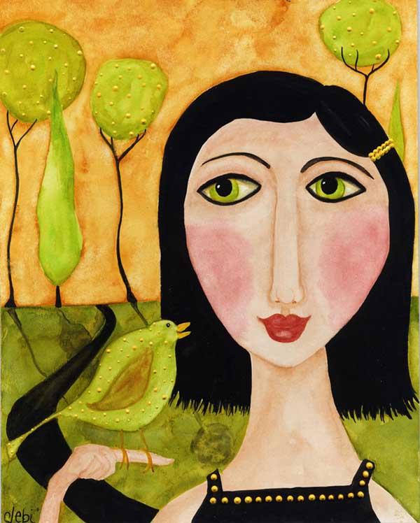 Деби Хаббс. Зеленая птица