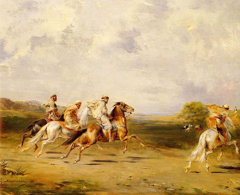 Eugene Fromomanten. Arab horsemen