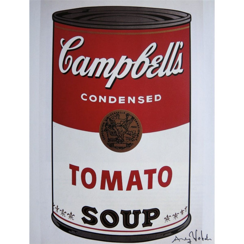 Andy Warhol. Bank of soup Campbell's (tomato)