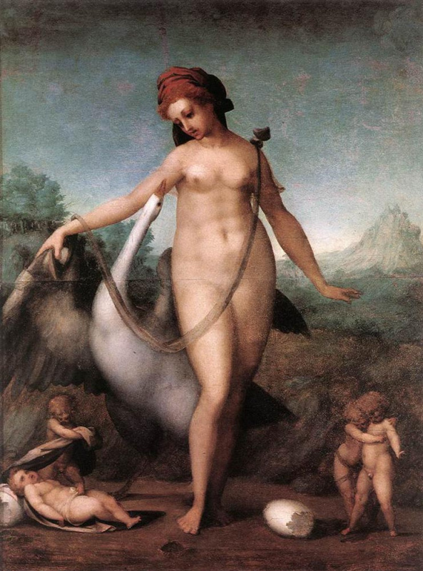 Jacopo Pontormo. Leda and the Swan