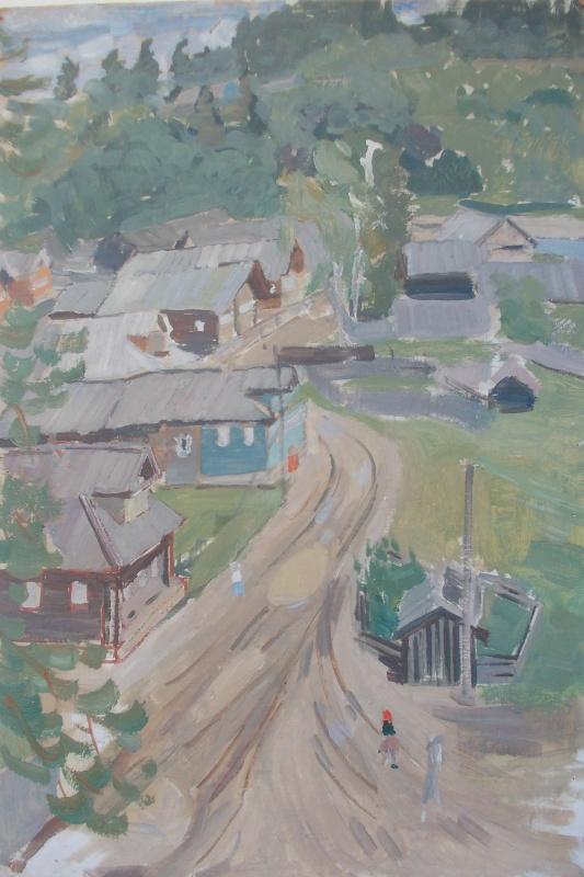 Nina Vasilievna Sedova. Village road