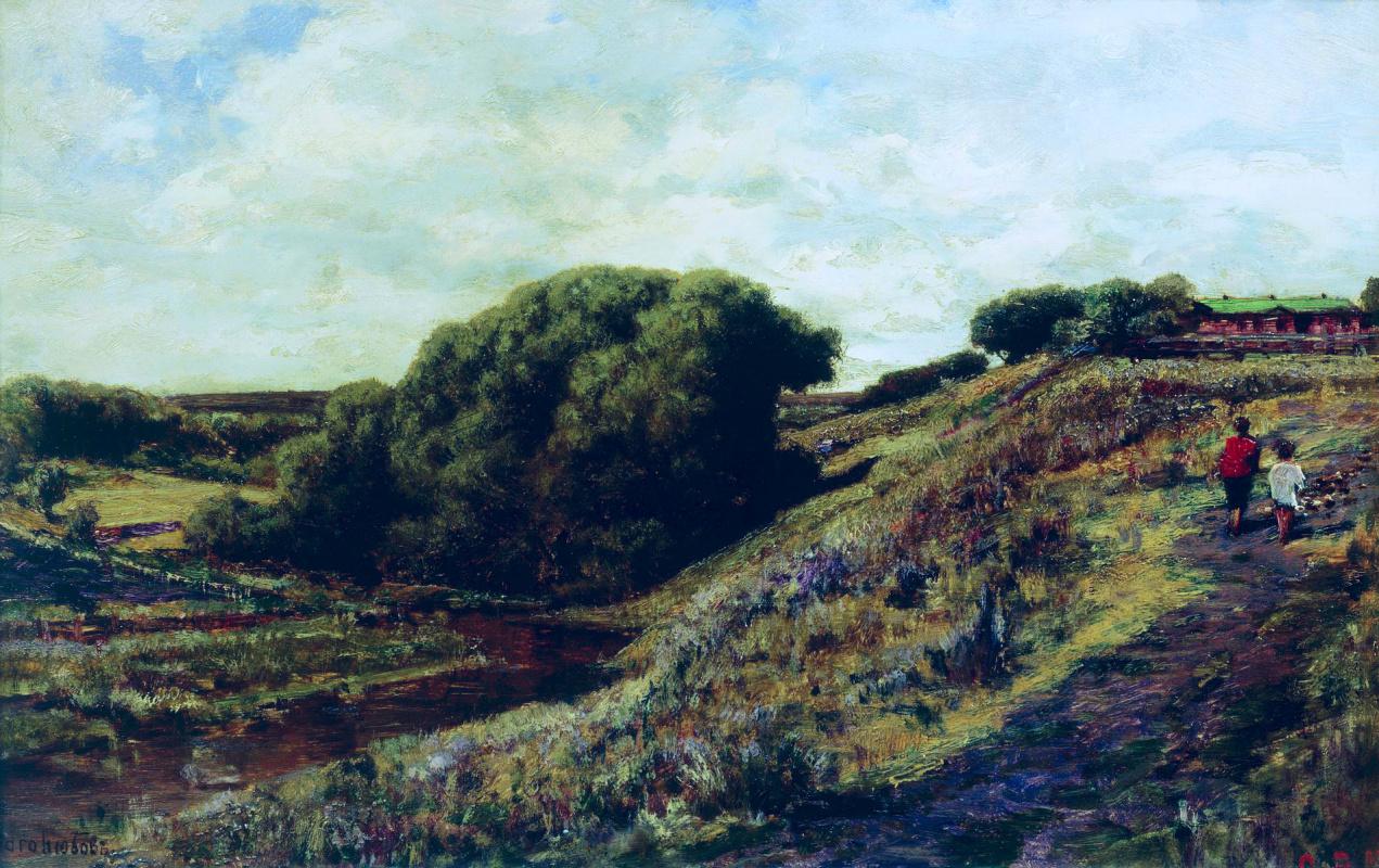 Alexey Petrovich Bogolyubov. Ablyazovo. Radischevskaya manor. Ravine. 1887
