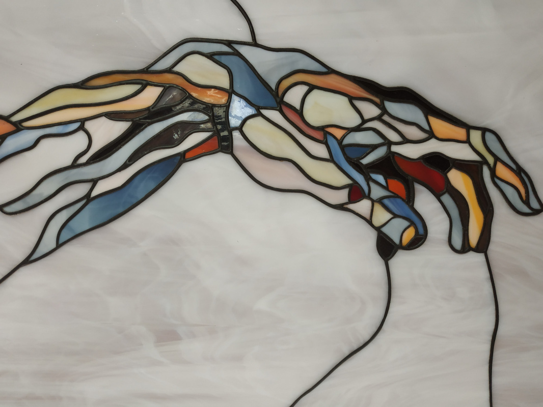 Unknown artist. The Creation of Adam. Fragment