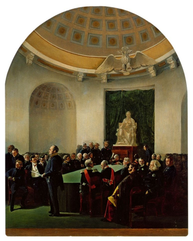 A solemn meeting of the Academy of arts in 1839