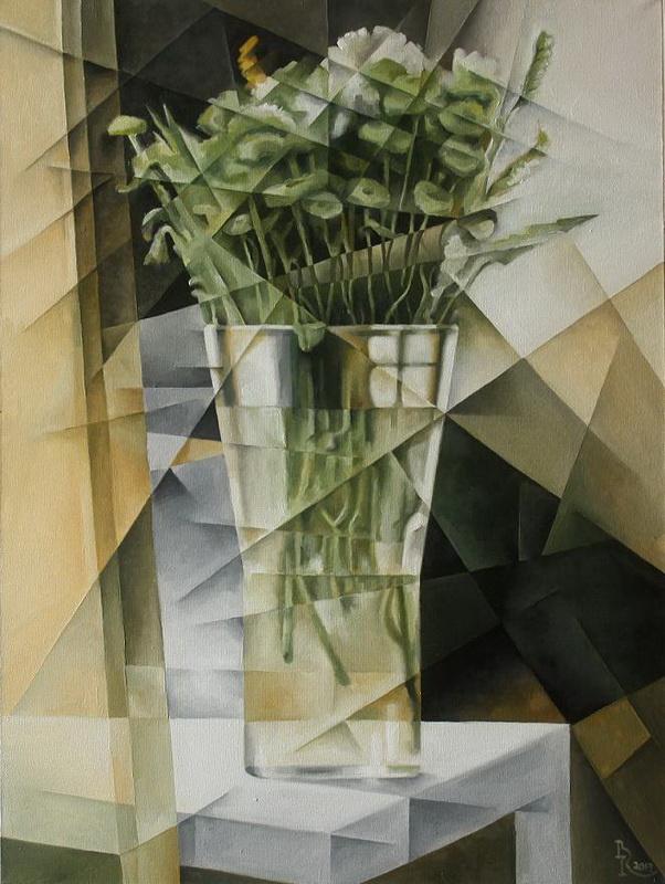 Vasily Vyacheslavovich Krotkov. Bouquet. Kubofuturizm
