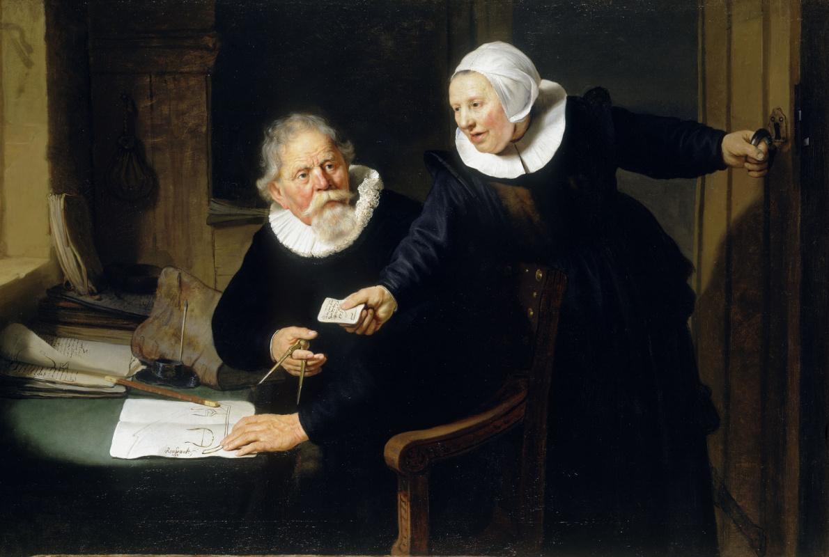 Rembrandt Harmenszoon van Rijn. Shipbuilder and his wife (Jan Rixen and his wife Griet Jans