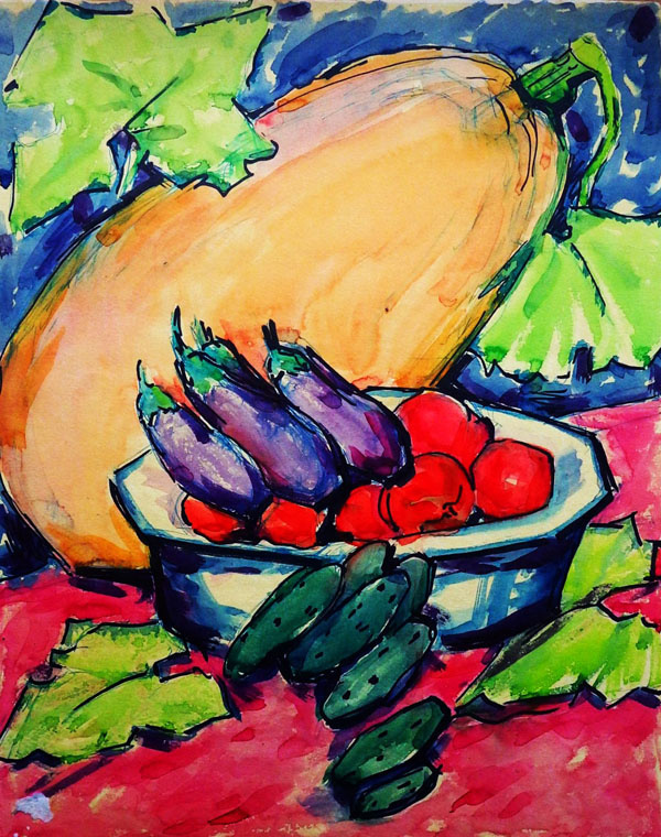 Мария Марковна Джагупова. Натюрморт с овощами