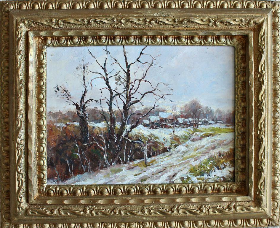 Unknown artist. First snow