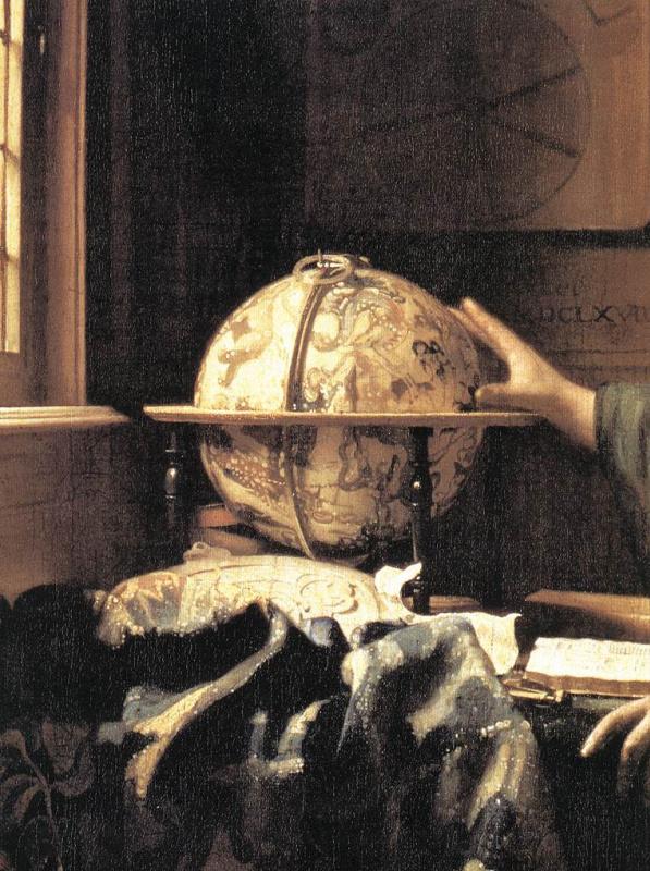 Ян Вермеер. Астроном. Фрагмент