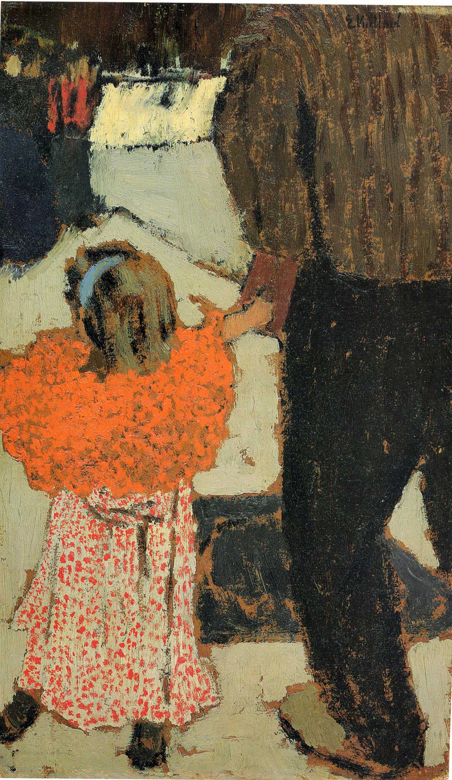 Jean Edouard Vuillard. Child with red scarf