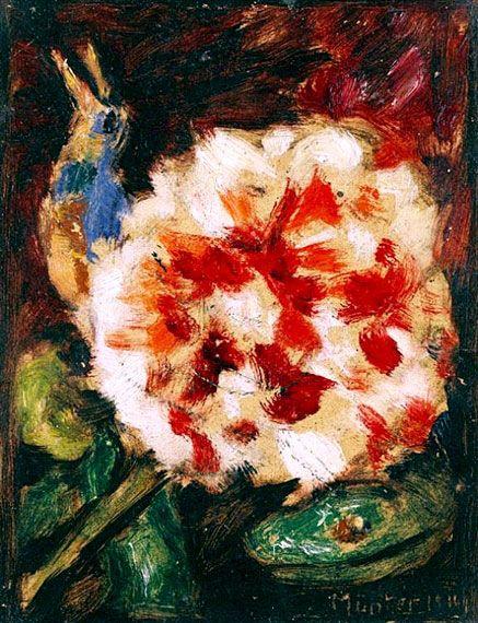 Gabriele Münter. Flower and bird