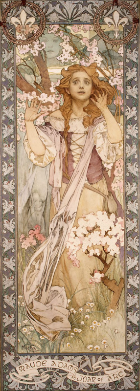 Alfons Mucha. Maude Adams in the role of Joan of Arc