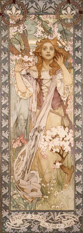 Alphonse Mucha. Maude Adams in the role of Joan of Arc