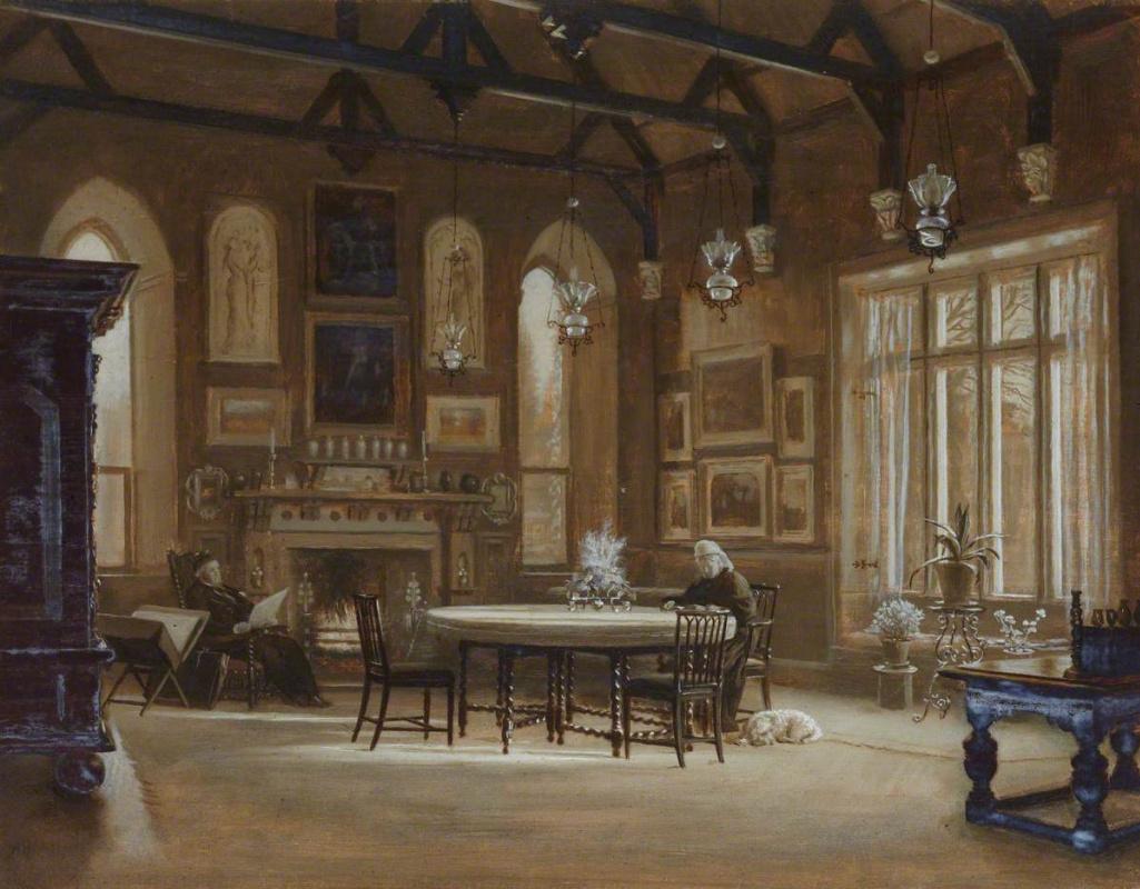 Arthur Hughes. Banquet hall in Penkille, Ayrshire