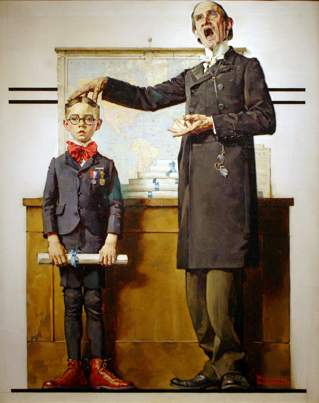 """Норман Роквелл. Первый ученик в классе. Обложка журнала """"The Saturday Evening Post"""" (26 июня 1926 год)"""