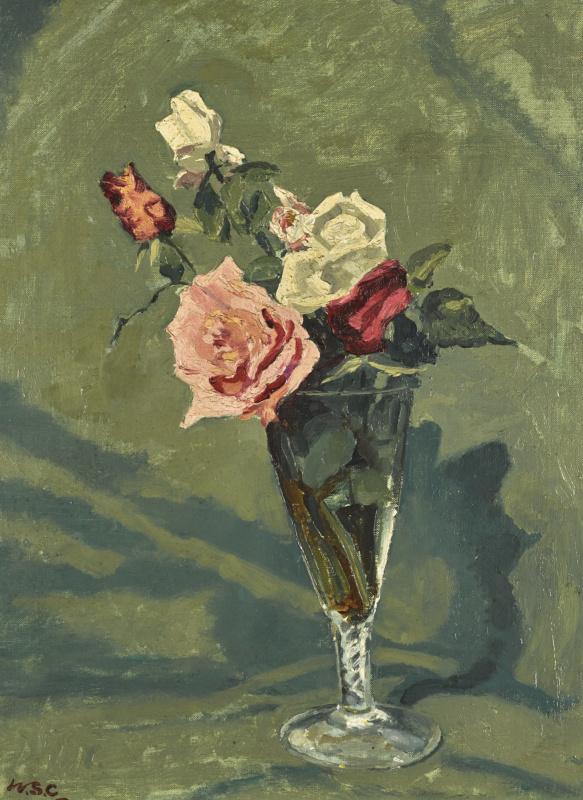 Уинстон Черчилль. Розы в стеклянной вазе