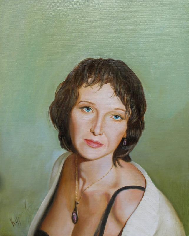 Alexander Pavlovich Kurganov. Female portrait
