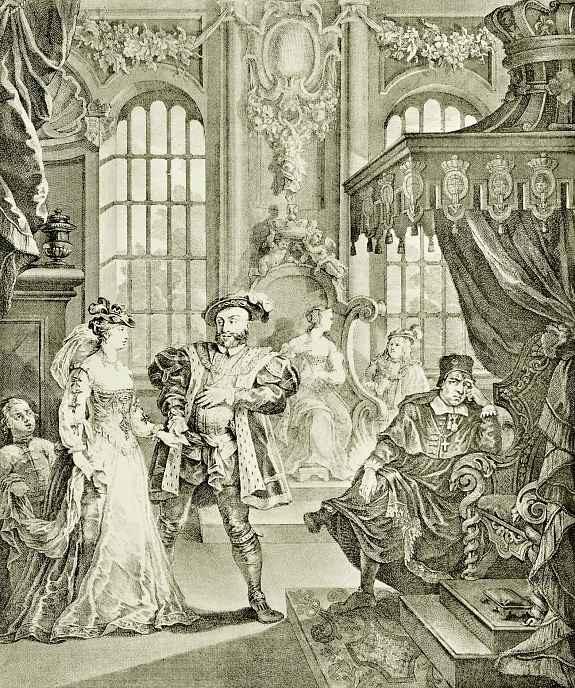 Уильям Хогарт. Генрих VIII и Анна Болейн