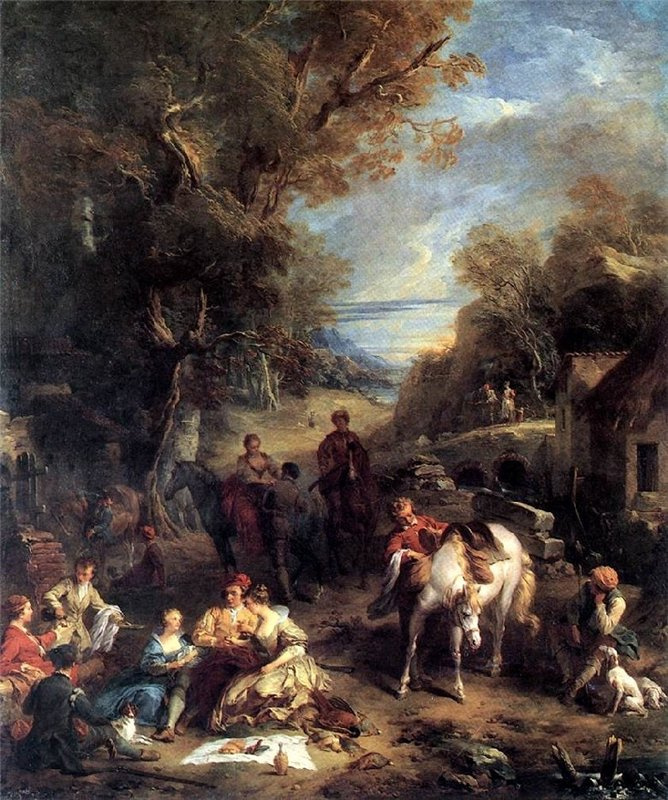 Франсуа Лемуан. Пикник на охоте