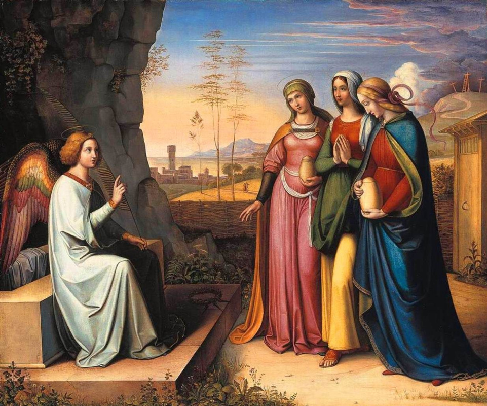 Петер фон Корнелиус. Три Марии у гробницы (Жёны-мироносицы)
