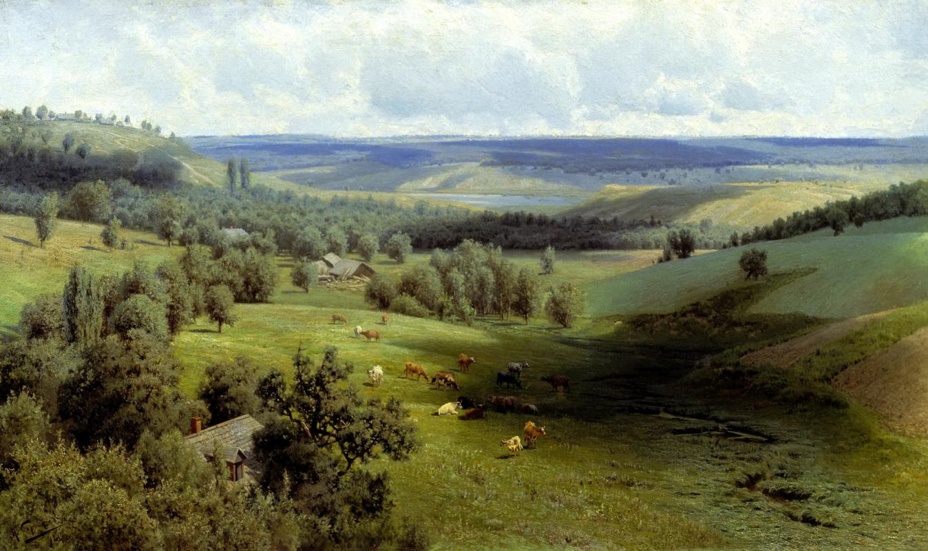Николай Александрович Сергеев. Летний пейзаж