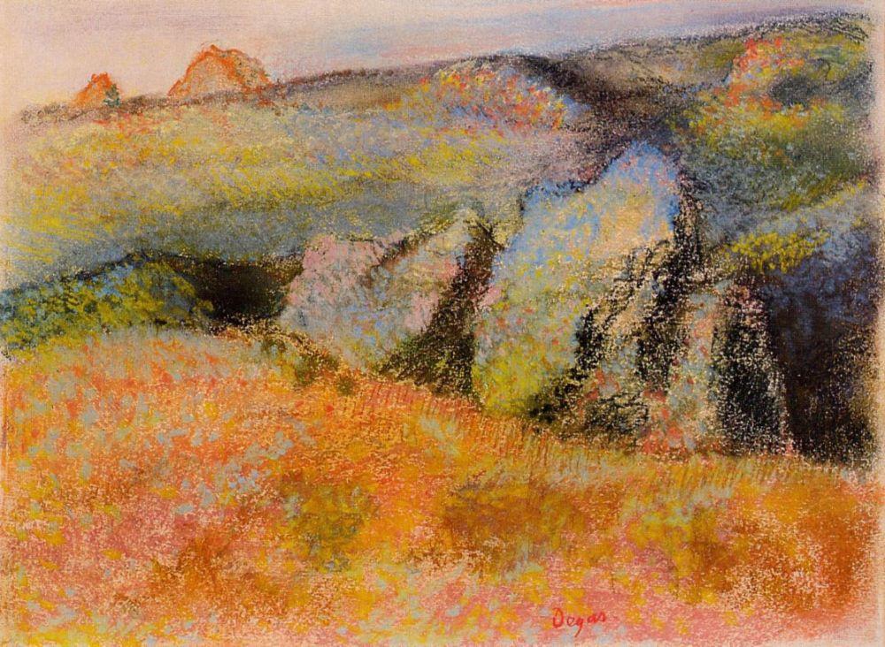 Эдгар Дега. Пейзаж с камнями