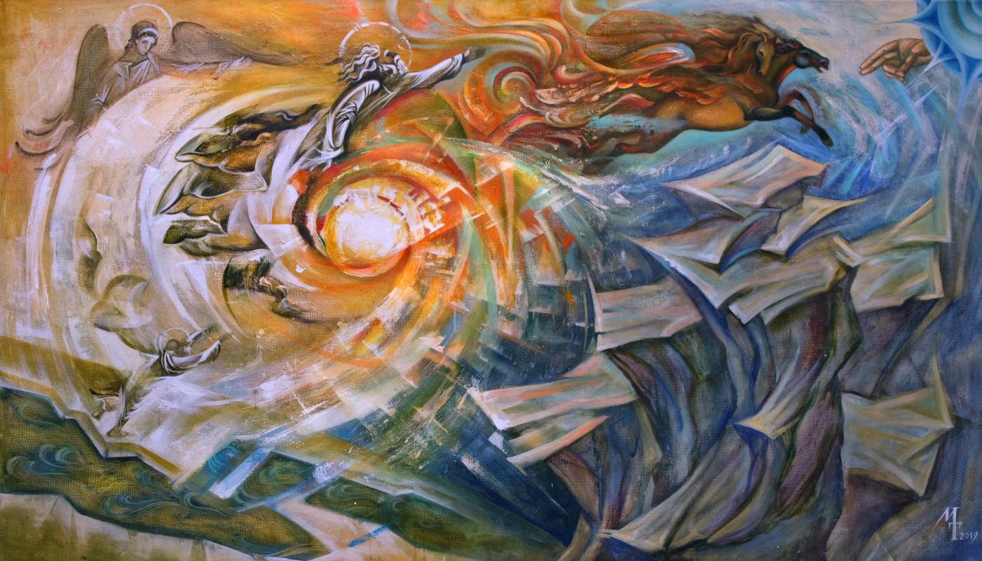 Margarita Tatieva. Ascension of the Prophet Elijah