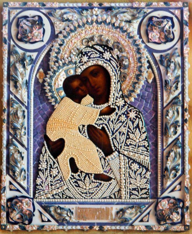 Московская Иконописная Мастерская. Икона Богородицы Владимирская