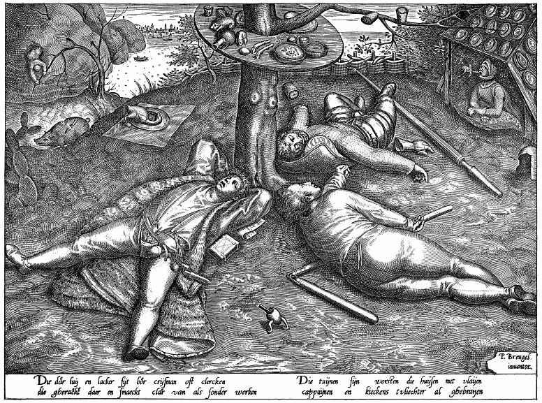 Pieter Bruegel The Elder. The land of cockaigne