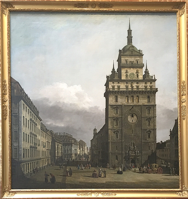 Polina Dutysheva. Bernardo Bellotto gen.Canaletto Church of the Holy Cross in Dresden c. 1751